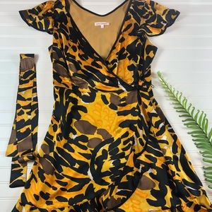 Betsy Johnson silk wrap dress. Vintage.